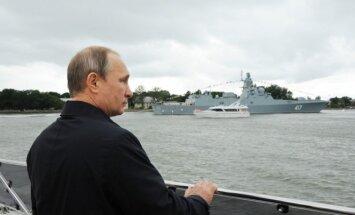 Vladimir Putin during his visit to Kaliningrad