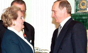Madeleine Albright ir Vladimiras Putinas