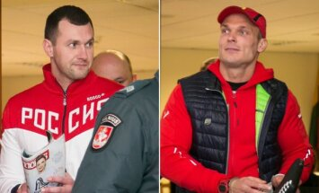Andžejus Mašara (kairėje) ir Justas Jakutis