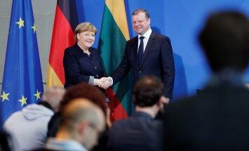 Angela Merkel ir Saulius Skvernelis