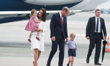 Princas Williamas ir Kate Middleton su vaikais Lenkijoje