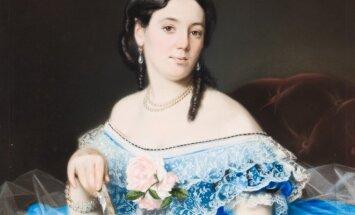 Nežinomas dailininkas. Moteris žydra suknele (apie 1850)