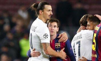 Zlatanas Ibrahimovičius ir Lionelis Messi