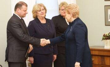 Saulius Skvernelis, Rimantė Šalaševičiūtė, Algimanta Pabedinskienė, Dalia Grybauskaitė