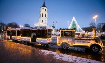 Kaip per šventes važiuos Kalėdų traukinukas