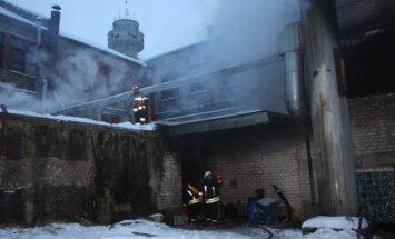 Juodupėje dega fabriko katilinė
