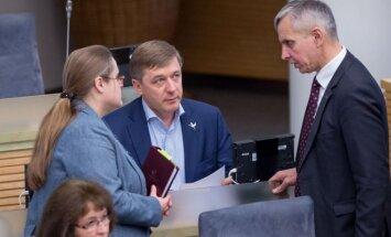 Agnė Širinskienė, Ramūnas Karbauskis, Povilas Urbšys