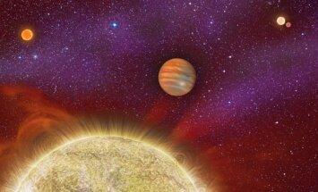Taip menininko vaizduotėje atrodo Ari 30 žvaigždžių ir planetų sistema