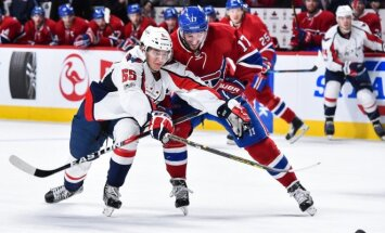 "NHL, ""Washington Capitals"" (šviesi apranga) - ""Montreal Canadiens"" mačo akimirka"