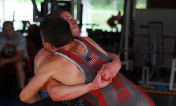 Edgaras Venckaitis treniruojasi