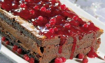 Šokoladinis bruknių pyragas