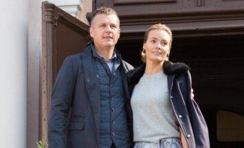 Jurgita Jurkutė-Širvaitė su vyru Ryčiu