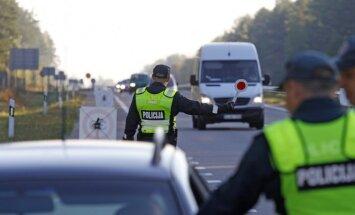 Policijos reidas kelyje Jonava - Kaunas
