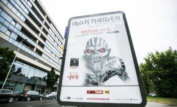 Grupės Irom Maiden reklama
