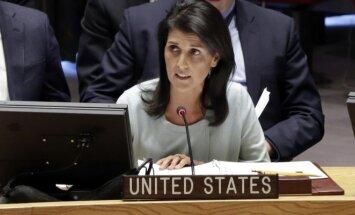 JAV ambasadorė Jungtinėse Tautose Nikki Haley