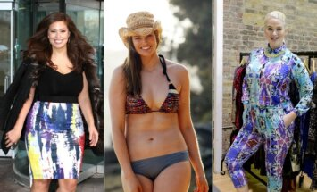 Modeliai Ashley Graham, Robyn Lawley ir Whitney Thompson