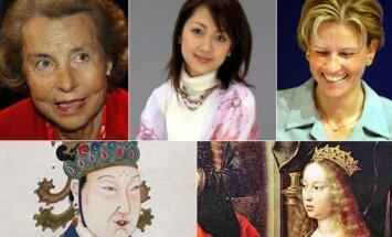 Turtingiausios visų laikų pasaulio moterys
