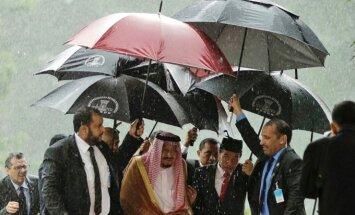 Saudo Arabijos karalius Salmanas lankosi Indonezijoje