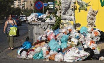 Šiukšliavežių streikas Atėnuose