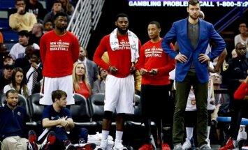 """Užsivedęs D. Motiejūnas """"Pelicans"""" rūbinėje ėmėsi lyderio vaidmens"""