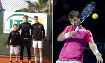 Lietuvos tenisininkų auksas Rytų Europos keturiolikmečių čempionate ir R. Berankis