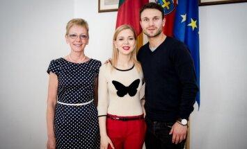 V. Baumila, M. Linkytė su delegacija lankėsi Lietuvos ambasadoje Austrijoje