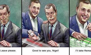 Antanas Guoga and Nigel Farage