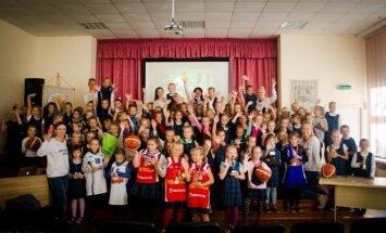 Projektas Tapk krepšinio žvaigžde aplankė Klaipėdą