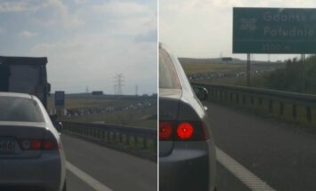 Kamštis S6 automagistralėje link Gdynės