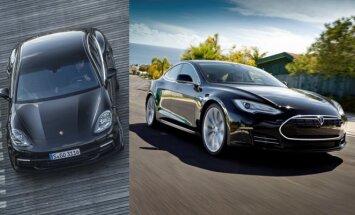 Geriausius rodiklius pademonstravo Porsche ir Tesla markės