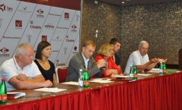 Lietuvos lengvosios atletikos federacijos vadovų ir rinktinės lyderių spaudos konferencija