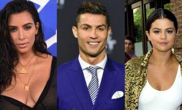 Kim Kardashian, Cristiano Ronaldo, Selena Gomez