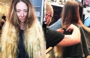 PRIEŠ IR PO: nerealu, kaip pasikeitė ši moteris po naujos šukuosenos