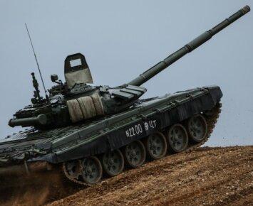 Rusijoje nuskendo tankas T-72