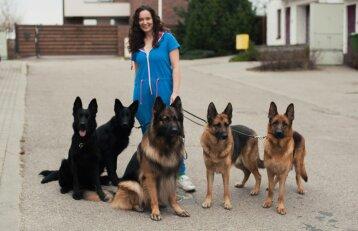 """Neįtikėtina pažintis su <span style=""""color: #c00000;"""">trijų vaikų mama Živile,</span> kurios namuose – net 23 šunys"""