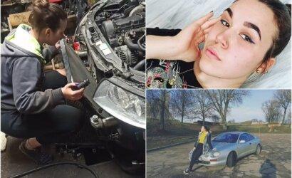 Automobilius remontuojanti Karolina – apie tėvus ištikusį šoką, šlykščius klientų komentarus ir gyvenimą laužant stereotipus: esu pagalvojusi net nešiotis diplomą