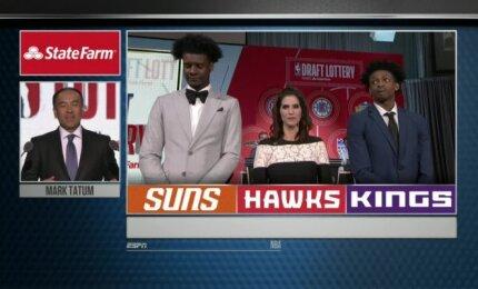 """NBA loterijoje sėkmė lydėjo """"Hawks"""" ir """"Kings"""", pirmasis biržos šaukimas atiteko """"Suns"""""""