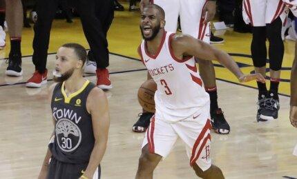 """Nuostabiame trileryje Ouklande pergalę išplėšę """"Rockets"""" išlygino serijos rezultatą"""