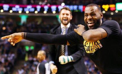"""NBA naktis: Pierce\'o pagerbimo rungtynėse atgimę """"Cavaliers"""" pažemino Bostono klubą"""