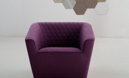 Violetinė spalva interjere