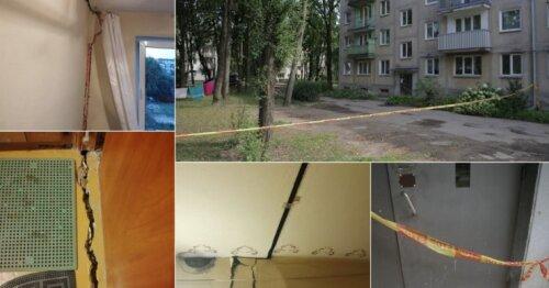 Griūvančio namo Kaune gyventojai širsta – darbai neprasideda, o už komunalines paslaugas moka