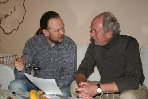 Ramūnas Bogdanas and Jon Baldvin Hannibalsson