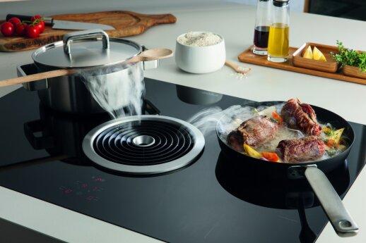 Netikėčiausi šiuolaikinės virtuvės sprendimai: gartraukius montuosime į kaitlentes