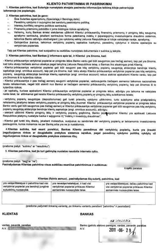 Snoro indėlio sertifikatas