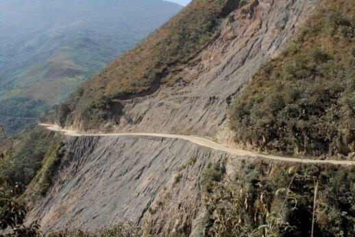 Pavojingasis kelias Bolivijoje
