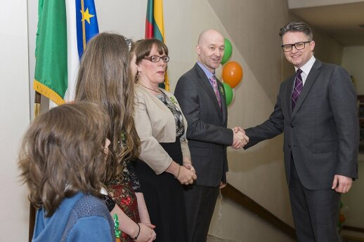 Irish Ambassador David Noonan with The Lithuania Tribune's Ruslanas Iržikevičius