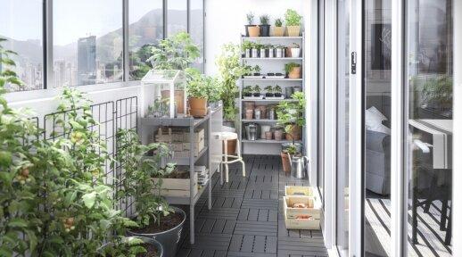 Poilsio ir hobių erdvė balkone – kaip tokią susikurti?
