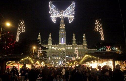 Mugė rotušės aikštėje Vienoje