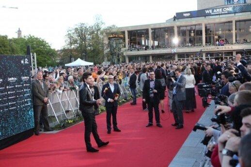 A. Pojavis Eurovizijos konkurso atidarymo ceremonijoje