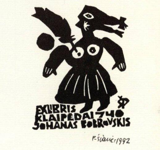 Johanneso Bobrowskio ekslibrisas